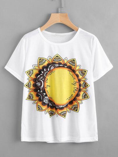 Tee-shirt imprimé du Mandala