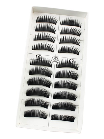 Thick False Eyelashes 10 Pair