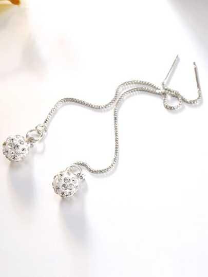 Chaîne en cristal argenté pendentif Boucles d'oreilles