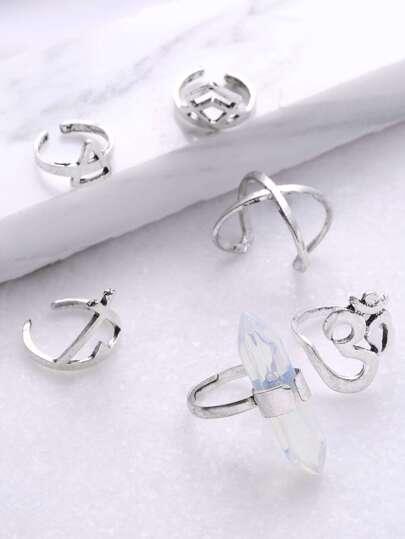 Multi a forma di anello di polsino Set