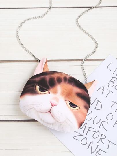 Cat Shaped Cute Crossbody Chain Bag