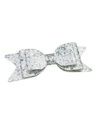 Silver Color Bow Shape Big Hair Clips
