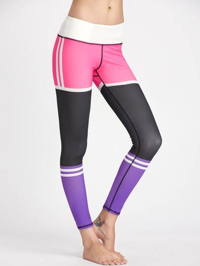 Active Color Block Gym Leggings