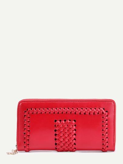 Crochet Design Flower Zipper Wallet
