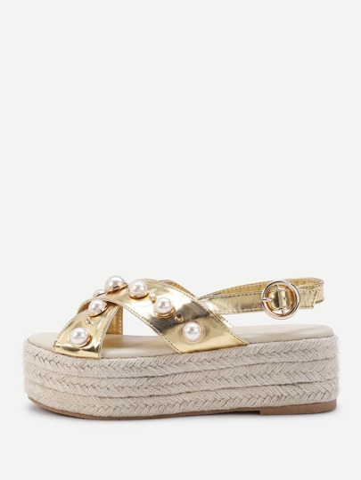 Pearl Woven Midsole Sandals