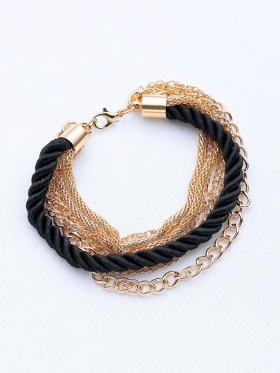 Contrasto braccialetto Chain stratificata