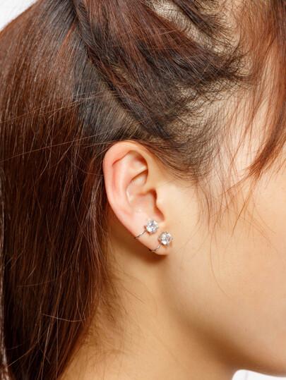 Boucles d'oreilles boutons de manchette strass