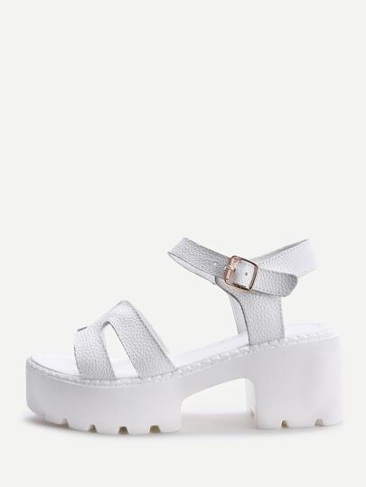 PU Wedge Sandals