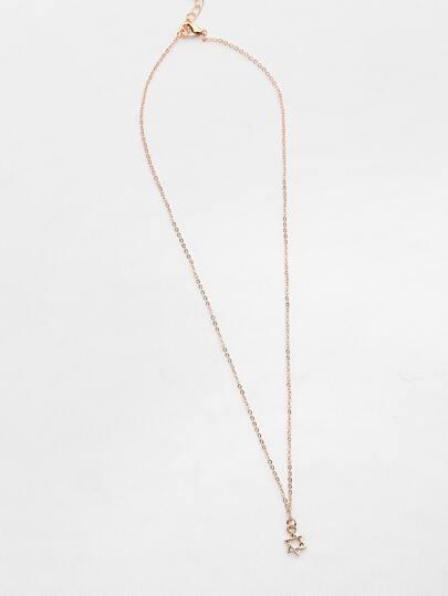 Collier pendentif en forme de pendentif élastique creux