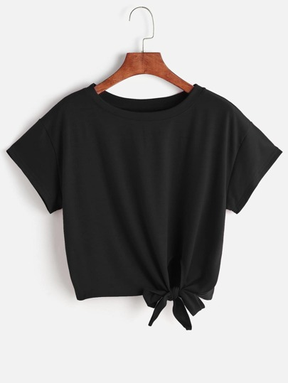 Tee-shirt avec un nœud en face