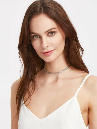 Arrow Shaped Chain Choker