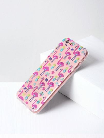Flamingo-und Ananas-Druck iPhone 6 / 6s Fall