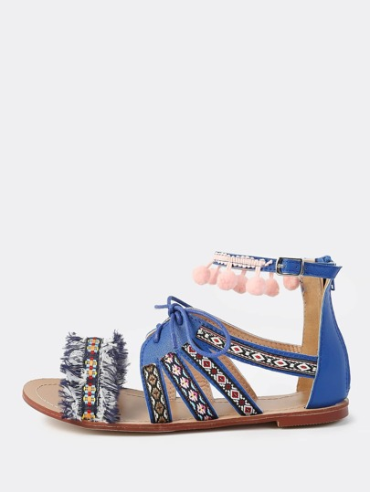Open Toe Native Sandals BLUE