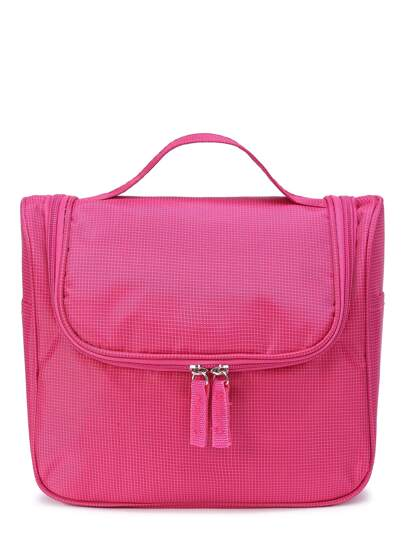 Doppelte Zipper Nylon Make Up Bag