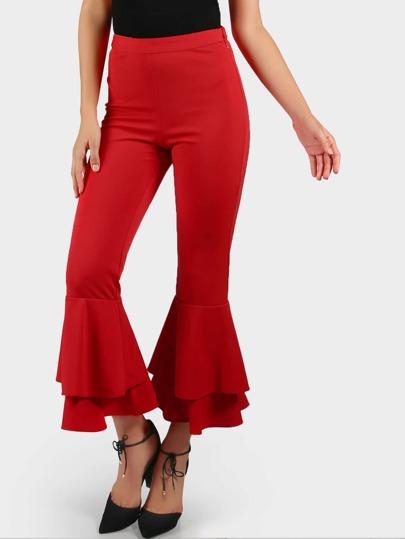 Pantalons à étages avec des plis