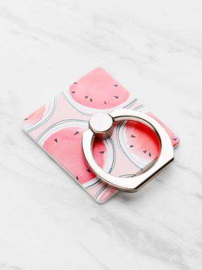 Watermelon Phone Sticker Bracket With Finger Ring