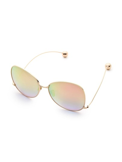 Gafas de sol de marco curvo con diseño de bola