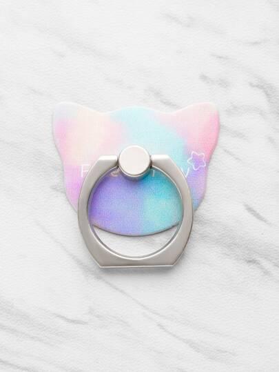 Staffa di autoadesivi telefonici a forma di gatto