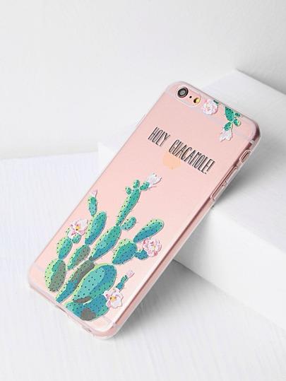 Cover per iPhone6 plus/6s con stampa di cactus