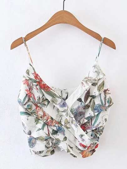 Layered Floral Cami Top