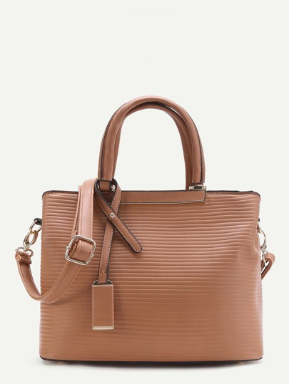 PU Shoulder Bag With Double Handle