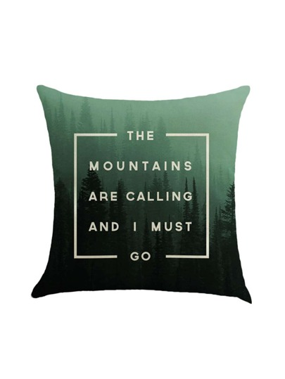 Slogan Print Pillow Case Cover