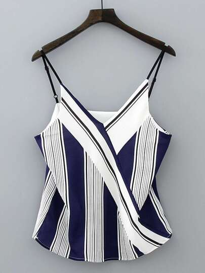Vertical Striped Cami Top