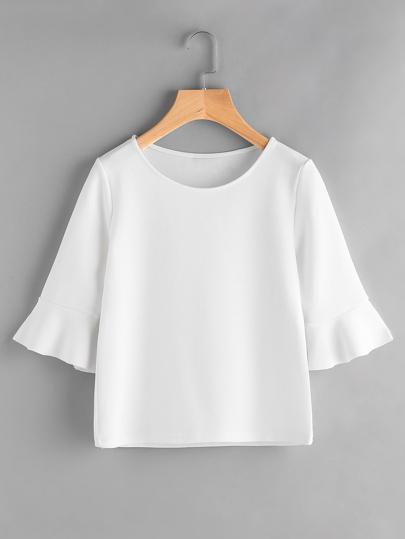 Camiseta de manga fruncido