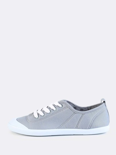 Plush Lace Up Sneakers SLATE