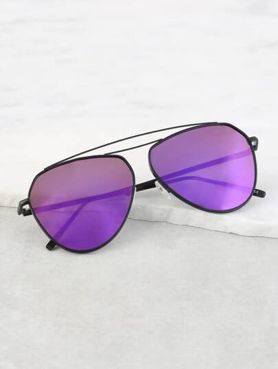 Lustrous Two Bar Sunglasses PURPLE