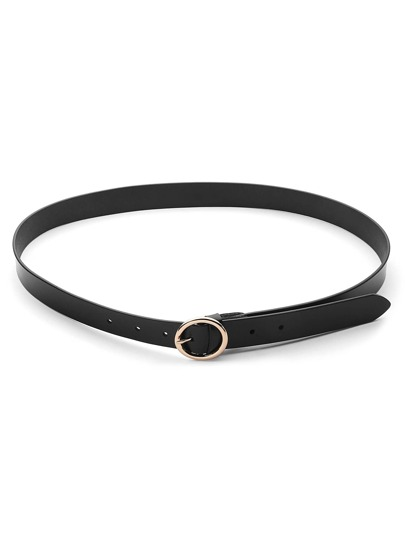 Metal Circle Buckle Belt