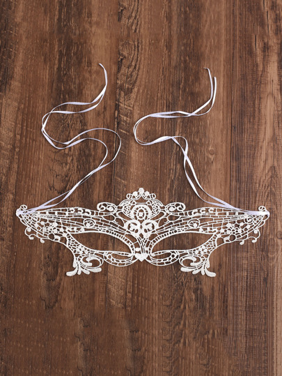 Lace Cutout Eye Mask