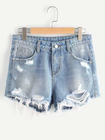 Shorts mit Blumenstickerei Denim Pause