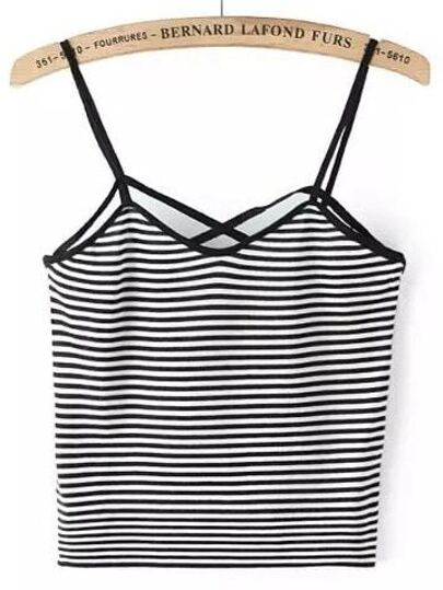 Contrast Striped Cami Top