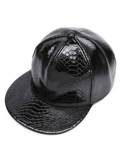 Crocodile Pattern PU Baseball Hat