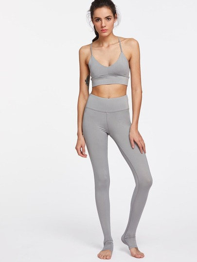 Strappy Back Sports Bra With Leggings