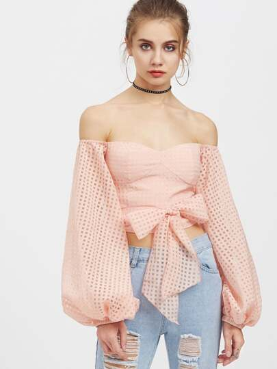 Top con cut-out ,con maniche della lanterna