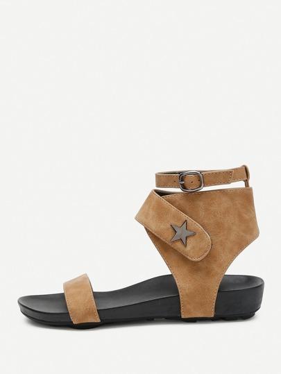 Open Toe Star Detail Sandals