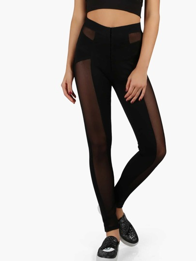 Athletic Mesh Panel Leggings