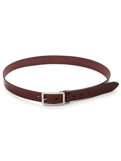 Metal Pin Buckle Faux Leather Belt