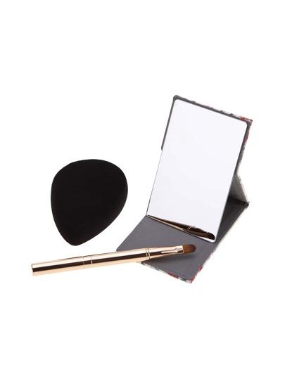 Set pincel de maquillaje espejo y esponja