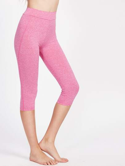 High Rise Crop Marled Leggings