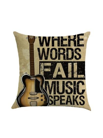 Copertura della federa con stampa di chitarra