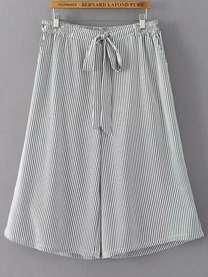 Pantalones de pierna ancha con rayas verticales