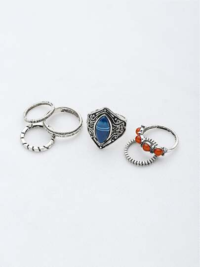 Gemstone Etched Ring Pack