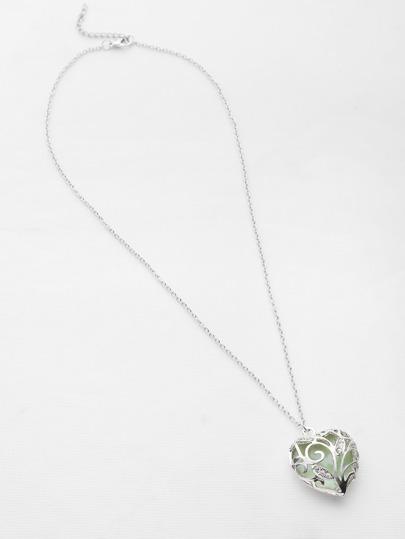Collier pendentif lumineux à coeur creux