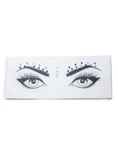 Maquillage yeux strass