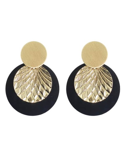 New Coming Big Round Hanging Stud Earrings