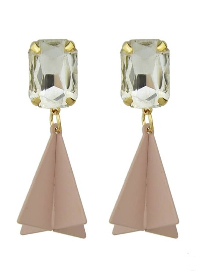 New Design Rhinestone Geometric Hanging Earrings