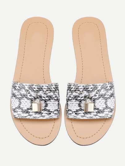 Sandales imprimé du serpent